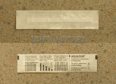 Aquadur - test stick for determination of water hardness 5528110400